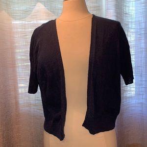 Denver Hayes blue cotton short sleeved cardigan